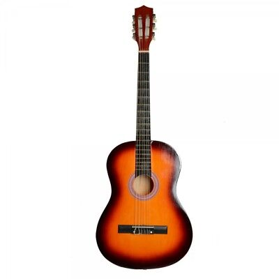 """38"""" Professional Acoustic Classic Guitar Sunset and Pick String"""
