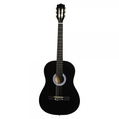 """38"""" Professional Acoustic Classic Guitar Black and Pick String"""