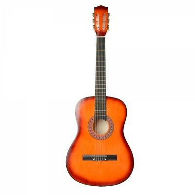 """38"""" Professional Acoustic Classic Guitar Orange and Pick String"""