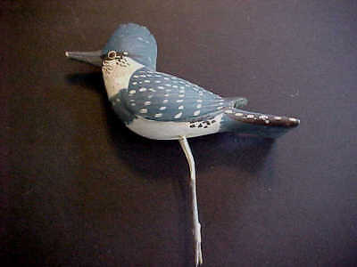 Vintage Carved Wood KINGFISHER (1) Hand Painted Over 30 years Old!