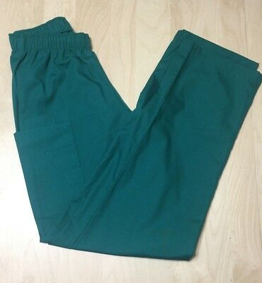 Medical Nursing Scrub Green  UNIFORMS Men Women Unisex Pants Sz L