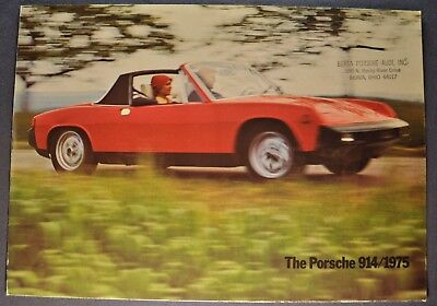 1975 Porsche 914 Sales Brochure Folder Excellent Original 75
