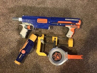 Nerf N-Strike Elite Raider Cs-35 Blaster W/ 25 - Round Drum Clip - Works Great