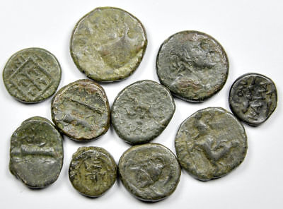 Group of 10 Ancient Greek Bronze Coins (20)