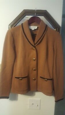 St. John Collection by Marie Gray Women's Gingerbread Brown Knit Jacket, Sz 4