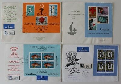 Ghana  1961 Founder's Day  1963 Red Cross  1964 Olympics  1966 Hunger  Cover x 4