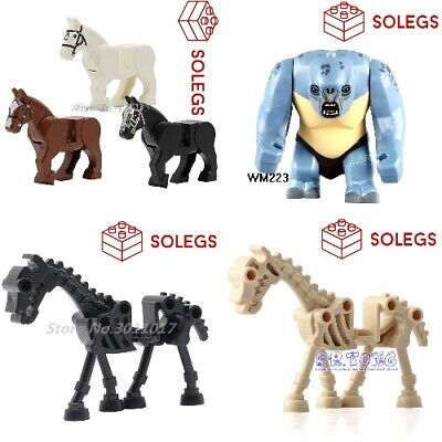Lego Skeleton Hors Lord Of The Rings Hobbit  Troll Uruk Hai Ork Figure Animals