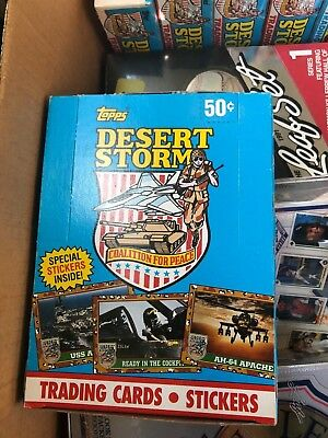 TOPPS Desert Storm Coalition for Peace 1991 Trading Cards Original Box 36 Packs