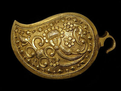 VERY BEAUTIFUL ANTIQUE 1800's. SILVER GILT BUCKLE , TOP CONDITION