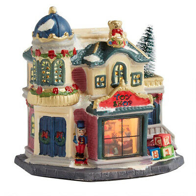 Holiday Christmas Village - Toy Shop - Porcelain, Lighted, NEW!