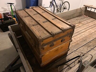 19th Century Steamer Trunk Local Pickup