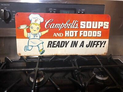 Vintage Campbells Soup Store Advertising Metal Sign