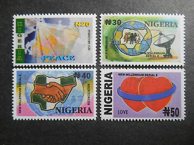 Nigeria 2002 New Millennium 2nd Issue SG 786-9 MNH (see photos) Unity Peace Love