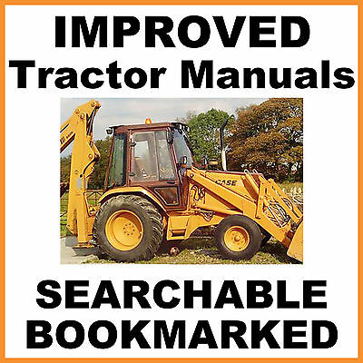 CASE 580K Phase 1 TRACTOR TLB Backhoe SERVICE Repair MANUAL BEST = SEARCHABLE CD
