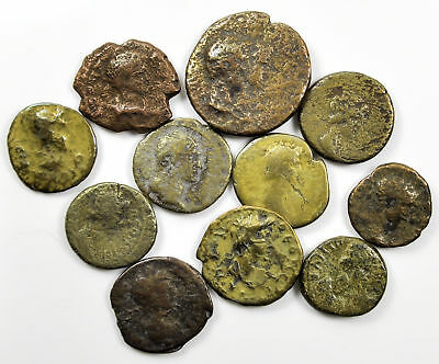Group of 9 Ancient Roman Provincial Bronze Coins (02)