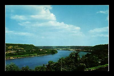 Dr Jim Stamps Us Ohio River View Maysville Kentucky Curteichcolor Postcard