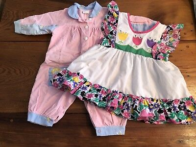 Lot Of Vintage Baby Girl Clothes 3/6 Months