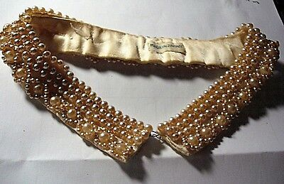 "Vintage Faux Pearl Collar/Choker Made in Japan 14.5"" around"