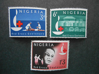 Nigeria 1963 Red Cross Centenary  MNH; First Aid, Patient, Hospital