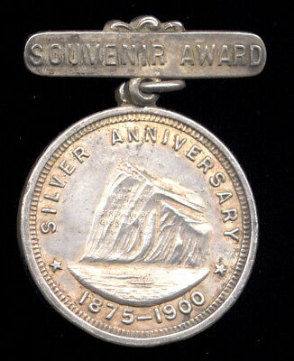 1900 Prudential Insurance Silver Anniversary Medal (691-109*)  FREE SHIPPING