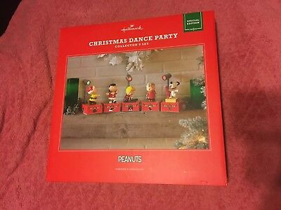 2017 PEANUTS CHRISTMAS DANCE PARTY Hallmark COLLECTOR'S SET Snoopy NEW!