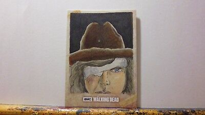 Official Topps Walking Dead Road To Alexandria Carl Sketch Card By Wayne Tully