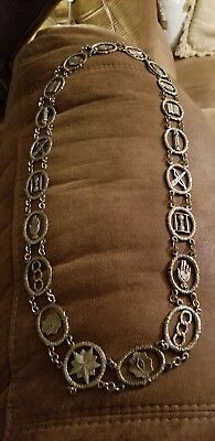 Antique Masonic Odd Fellows Chain Collar Silver Plated