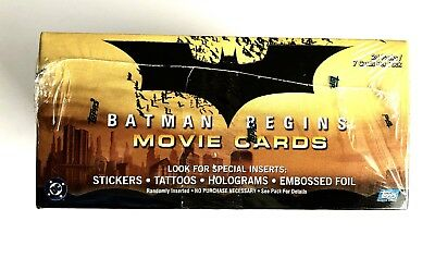 Topps Batman Begins Trading Cards Factory Sealed Box