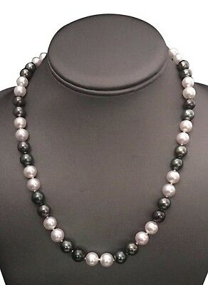 CERTIFIED $7,950 Akoya Tahitian Pearl Diamond 8.50mm 18.5 IN 14kt Necklace 20419