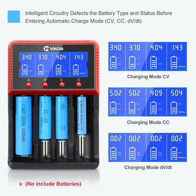 VONTAR Intelligent Battery Charger For 22650 26650 18650 14500 16340 AA Battery