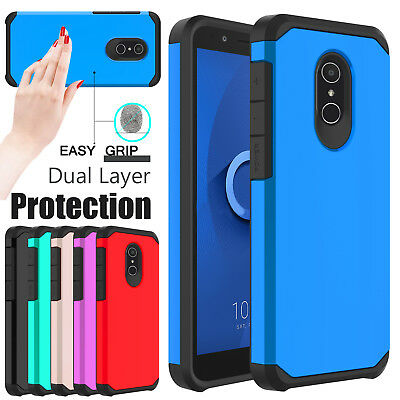 For Alcatel TCL LX A502DL Phone Case Shockproof Rugged Hybrid Armor Hard Cover