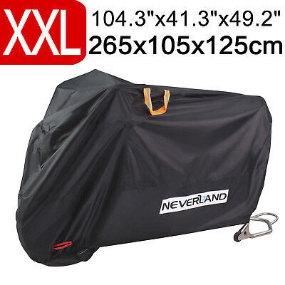 Upgrade XXL 210D Waterproof Outdoor Motorcycle Scooter Protector Dust Rain Cover