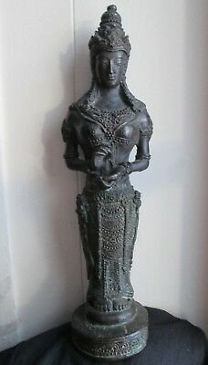Antique 18th-19th Century BALI Balinese INDONESIAN Buddha Female DEITY BRONZE
