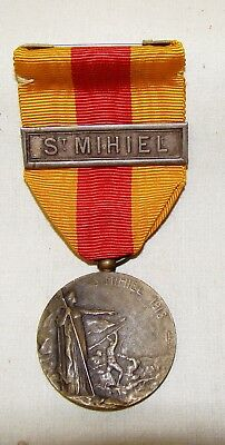 WW1 St Mihiel Victory medal and ribbon