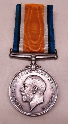 WW1 English Victory medal and ribbon George 5 Identified soldier