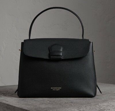 430aa224bb NWT Burberry Derby Leather House Check Medium Camberley Tote Satchel Bag ,  Black