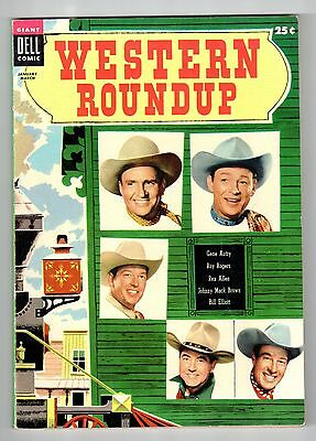Dell GIANT WESTERN ROUNDUP #9 Jan Mar 1955 vintage comic VF condition