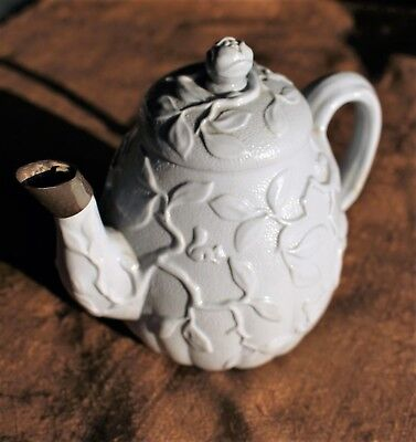 Small Mintons Glazed Chinoiserie Stoneware Teapot (Date Mark 1874)