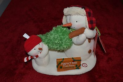 2014 Hallmark The Perfect Tree Singing Snowmen With Sound Light And Motion