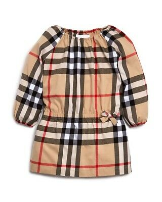 59956868f NEW $245 BURBERRY Girls' Drawstring-Waist Check Print Dress, Size 6Y ...