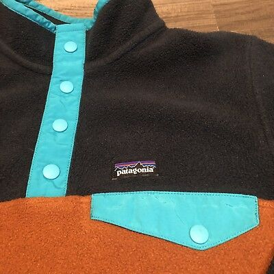 Patagonia Synchilla Pullover Fleece Sweater Jacket Youth 12 Large 1/4 Button