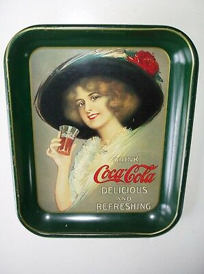 1913 Hamilton King Girl Coca-Cola Serving Tray! - Vintage Coke Repro