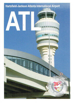 ATL-002 Airport Trading Card Hartsfield-Jackson Atlanta International Georgia