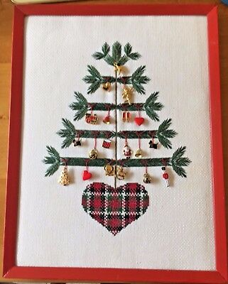 Beautiful Hand-Embroidered Christmas Tree with Metal Charms #ebayMarket