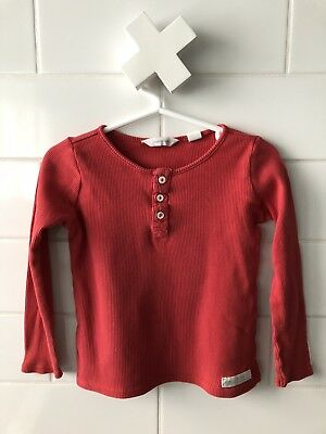 Red Henley by Country Road (size 18-24mo)