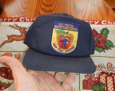 US Postal Inspection Service Ball Cap NY Division Old Style Inspector Patch