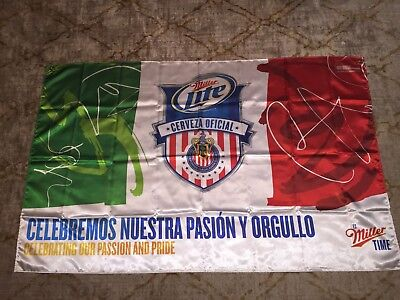 Miller Lite Cerveza Beer Flag Soccer Mexico great for Mancave 36X57 from 2012