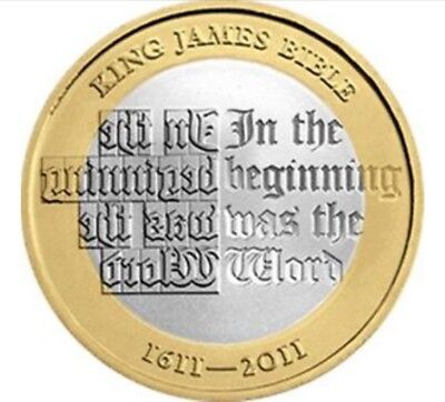 TWO POUND COIN - KING JAMES BIBLE - 400TH ANNIVERSARY 1611-2011 £2 coin