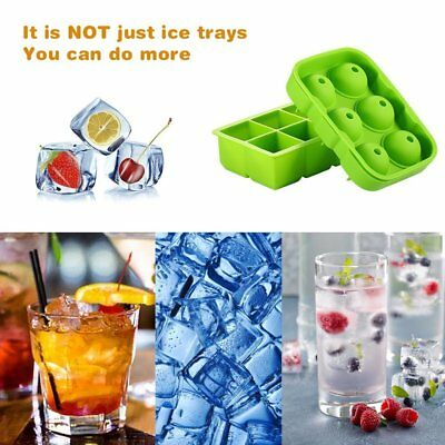 Whiskey Scotch Drinks Ice Cube Ball Maker Mold Tray 6x 4.5cm Food Grade BPA Free