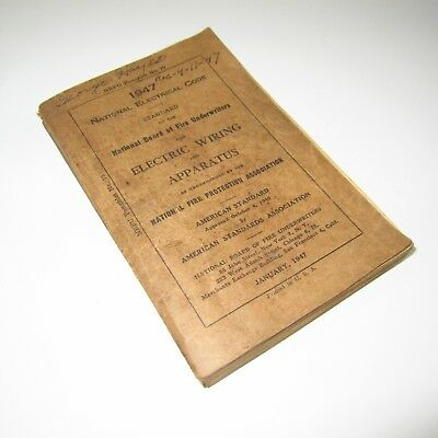 National Electrical Code 1947 Antique Book